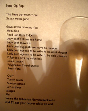 poem and foto by smith